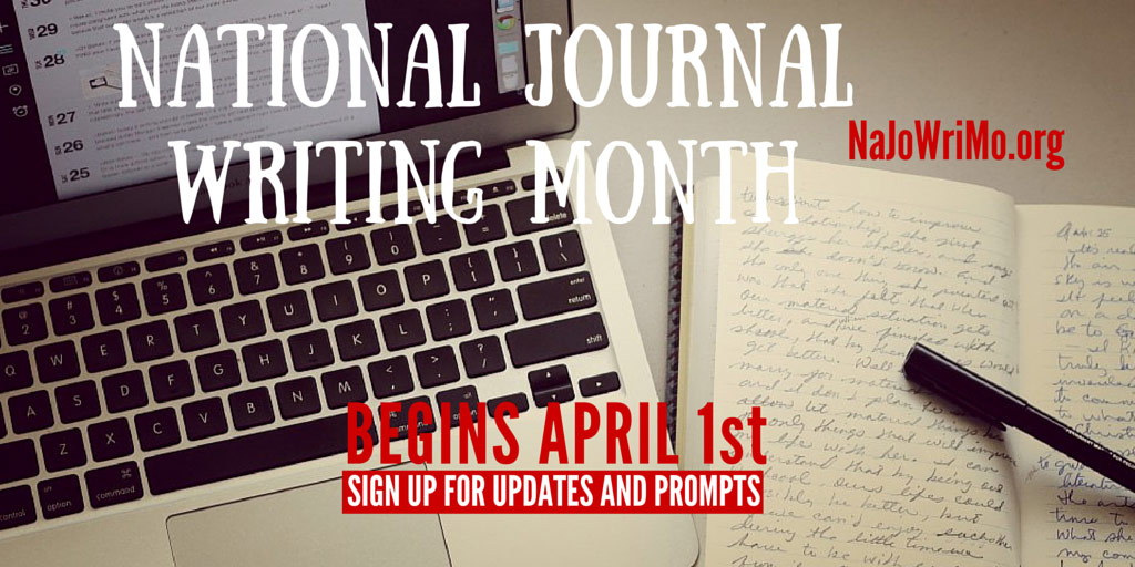 National Journal Writing Month Starts April 1st 2019
