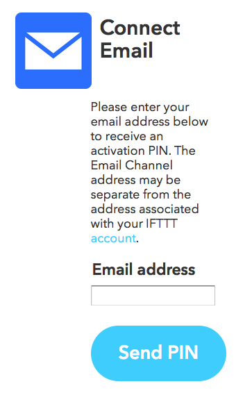 Connect the Email Channel - IFTTT Safari, Today at 12.45.32 PM