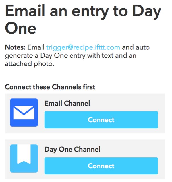 Day One and IFTTT